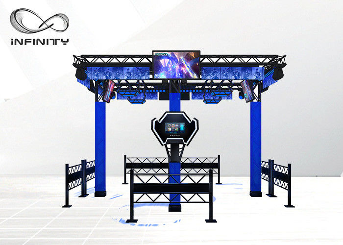Multi Player 9D Virtual Reality Walking Platform VR Shooting Simulator بازی