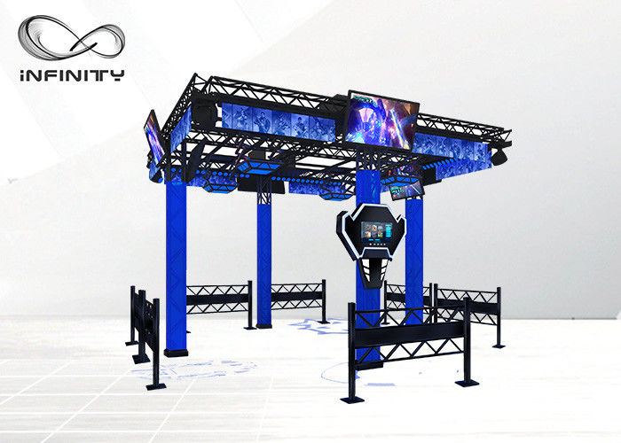 نسخه انگلیسی Virtual Reality Walking Platform 9D VR Simulator Games تامین کننده